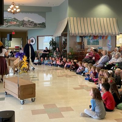 Performance for children and older adults at Jenks West Elementary/Grace Living.